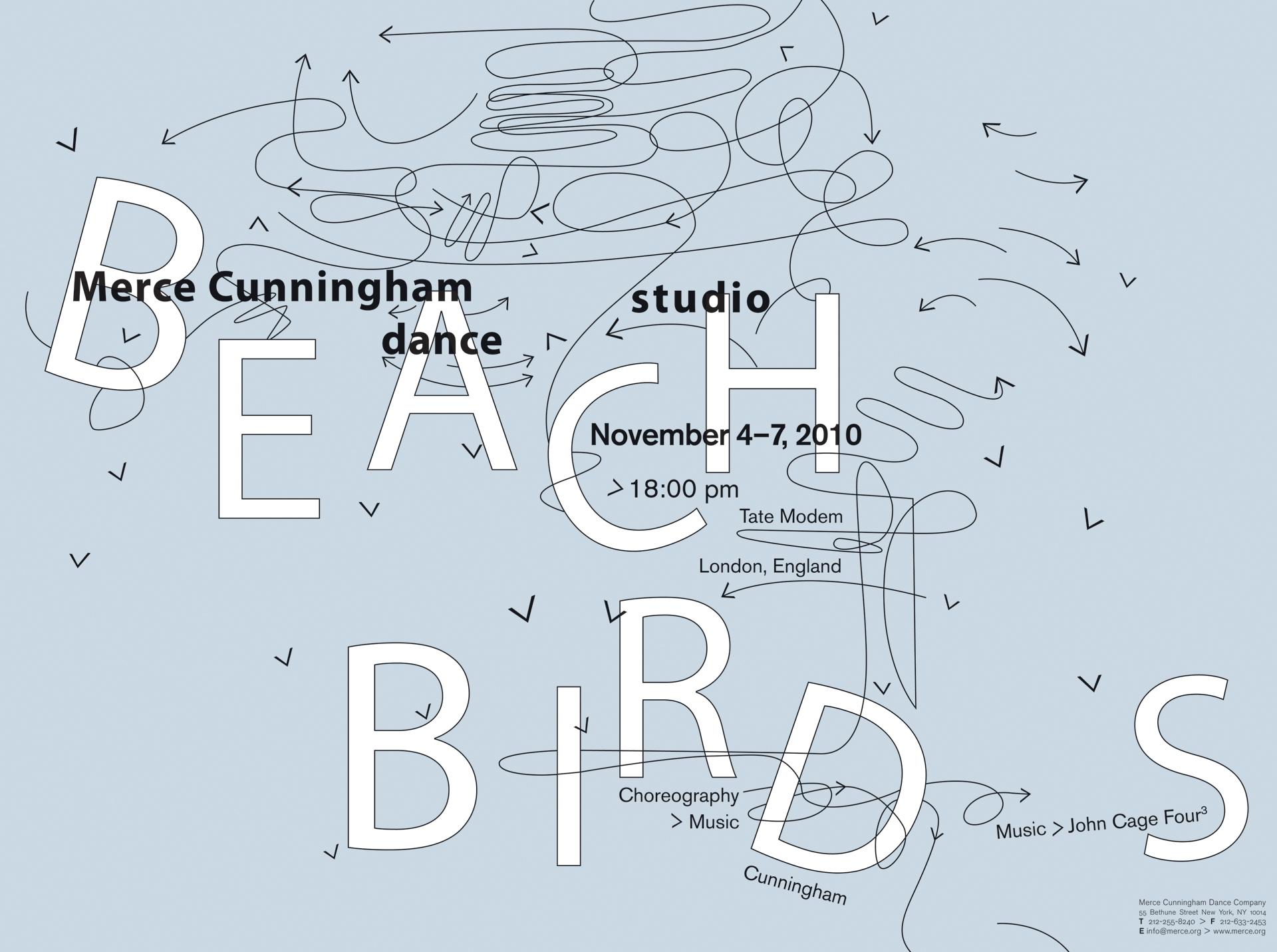 Merce Cunningham dance studio poster